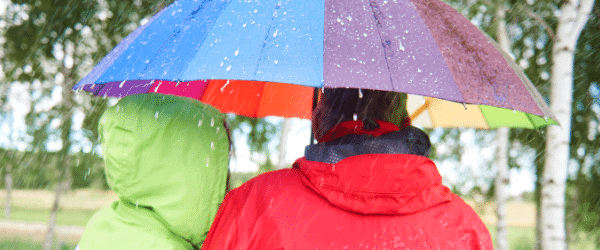LSH blog - mindful walking in the rain